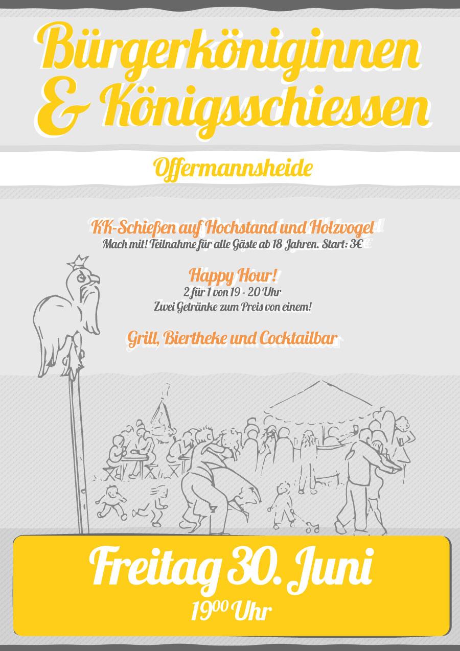 Bürgervogelschiessen am Schützenfest Freitag der 30. Juni 2017 in Offermannsheide