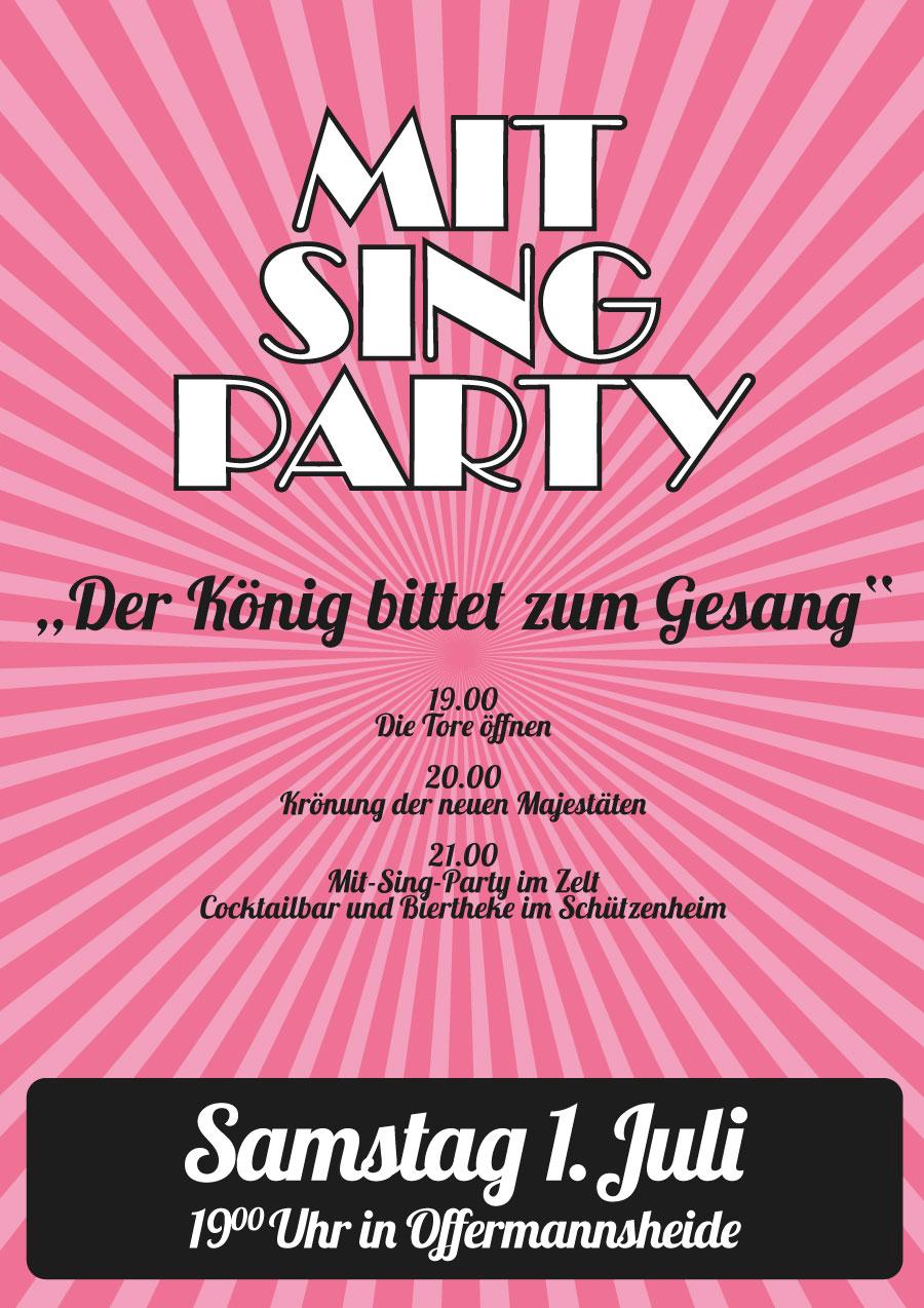Schützenball und große Mit-sing-Party am Schützenfest Samstag 01. Juli 2017 in Offermannsheide